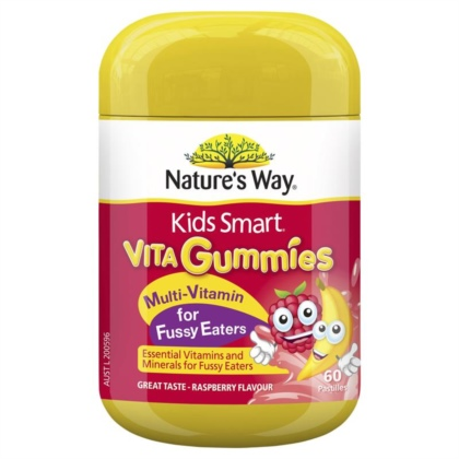 Kẹo Vitamin tổng hợp cho bé - Nature's Way - Kids Smart Vita Gummies Multi Vitamin for Fussy Eaters 60 60 viên